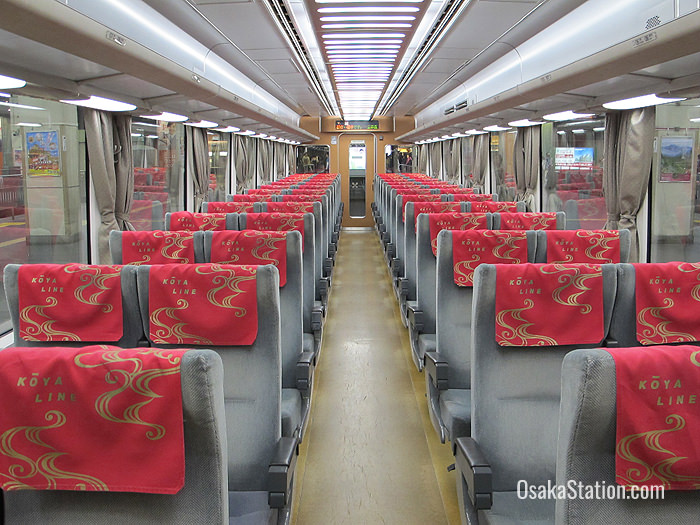 Inside a Limited Express train