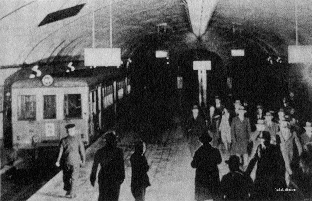 Yodoyabashi Station on the Midosuji Subway Line in 1933