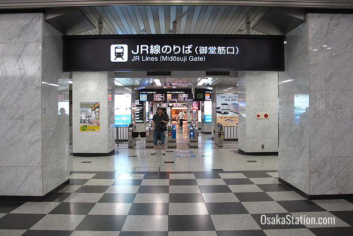 The Midosuji ticket gates