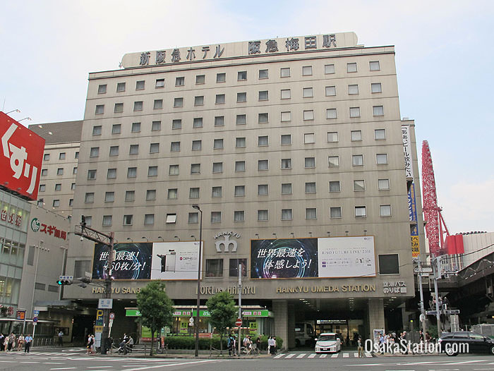 Hankyu Osaka-Umeda Station is just one of six satellite stations around Osaka Station