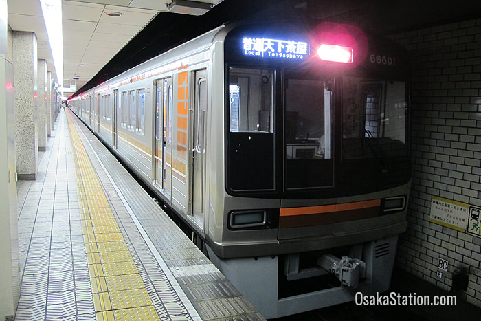 An Osaka Municipal Subway train bound for Tengachaya