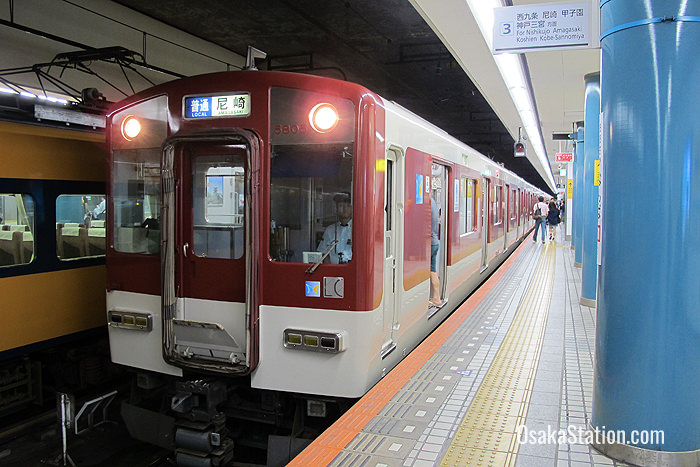 A Local train for Amagasaki at Osaka Namba Station