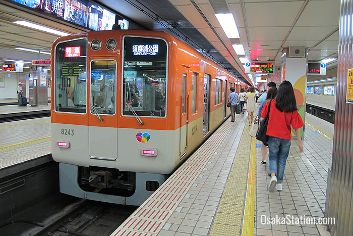 A train on the Hanshin Kobe Main Line