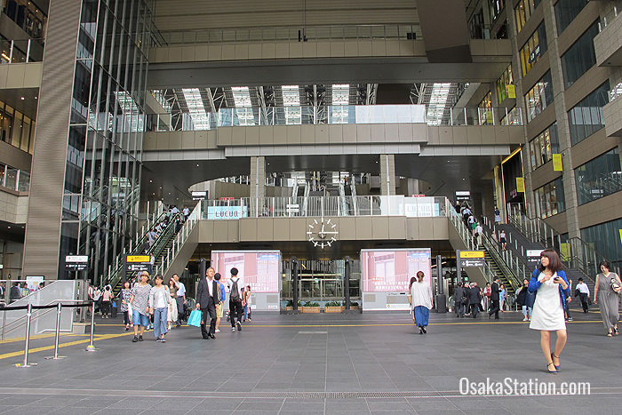 The Atrium Plaza at the 2nd Floor entrance to Osaka Station City's North Gate Building