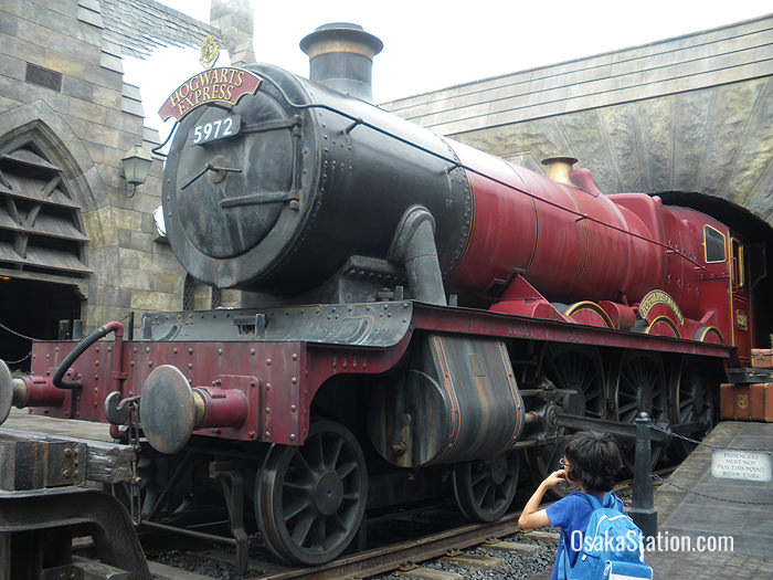 You can take a commemorative photograph in the carriages of the Hogwarts Express