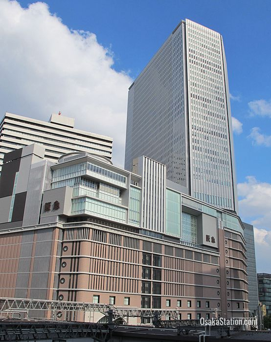 A view of Hankyu Umeda Department Store from Osaka Station