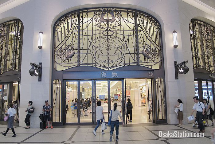 The elegant entrance to Hankyu Department Store