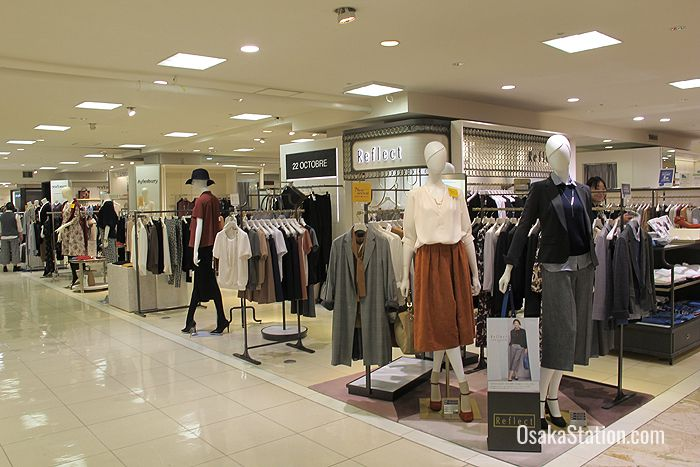 Ladies fashion boutiques can be found on floors 1 - 5