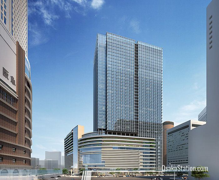 An artist's impression of the future Daihanshin Building. Image courtesy of Hankyu Hanshin Holdings Inc.