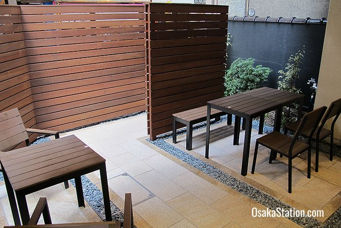 An outdoor seating area