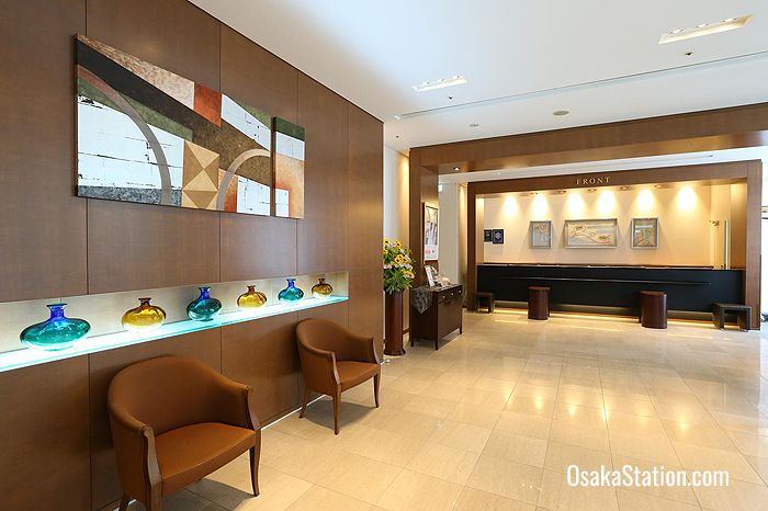 The hotel reception
