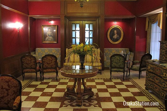 A drawing room on the eighth floor