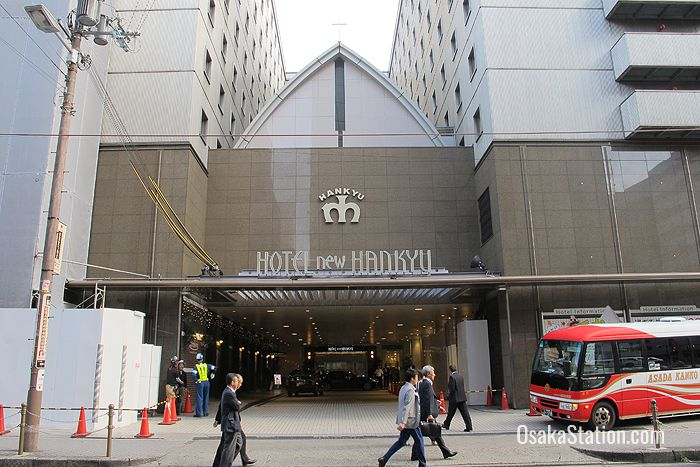 The entrance to Hotel New Hankyu Osaka