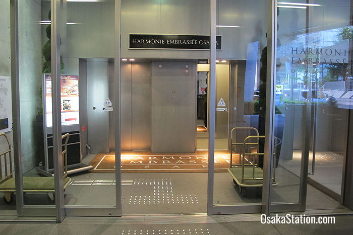 The entrance foyer. Enter through the covered parking area, then take an elevator to the 10th floor