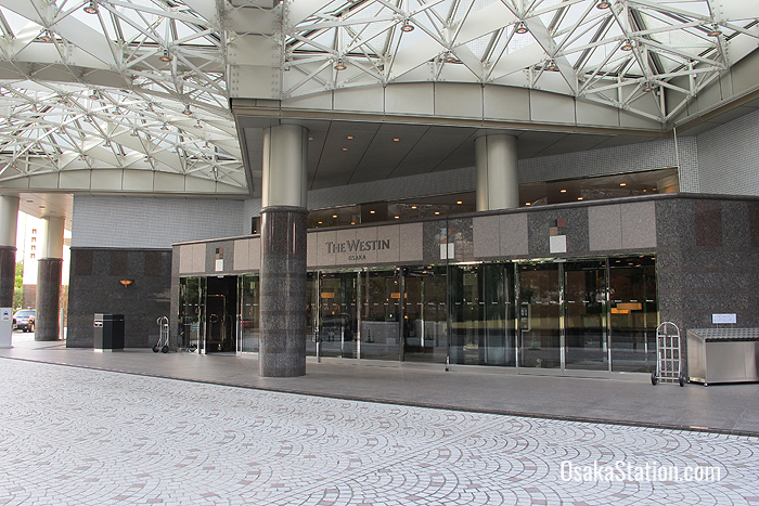 Entrance to the Westin Osaka
