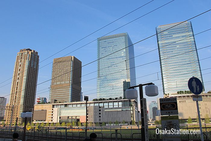 The four towers of Grand Front Osaka
