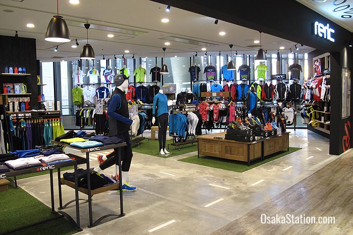 On the 5th floor you can find a number of stores selling sportswear and outdoor goods
