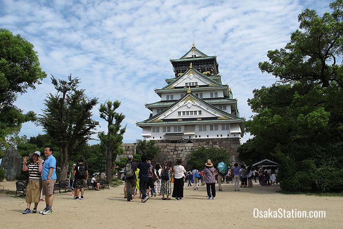 Osaka Castle is a very popular tourist attraction
