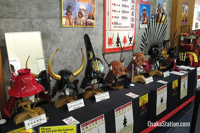 For 500 yen you can try on a samurai helmet and armour
