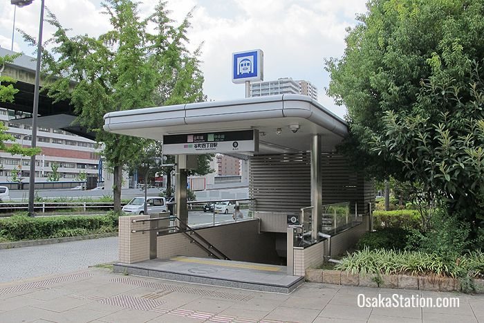 The entrance to Tanimachi Yonchome Station is right outside the museum