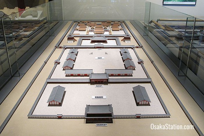 A model of the Naniwa Palace in the 8th century
