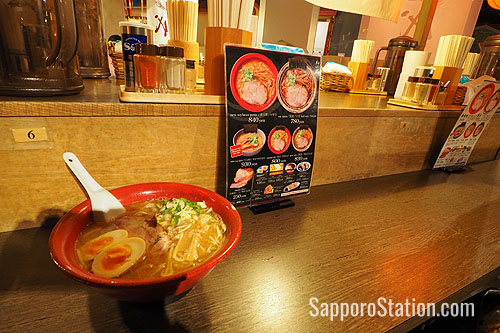 Sample the best Hokkaido style ramen from several restaurants in one location