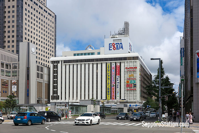 Sapporo Station Bus Terminal is located in the Esta building on the south-east side of the station