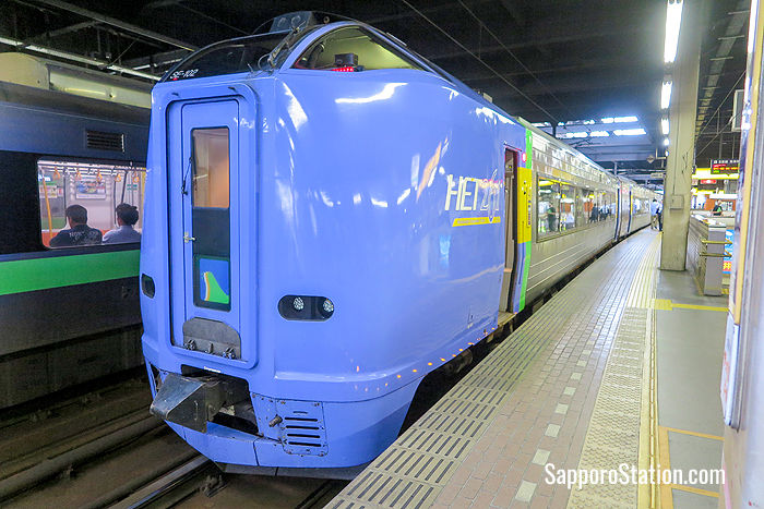 The Limited Express Soya at Sapporo Station