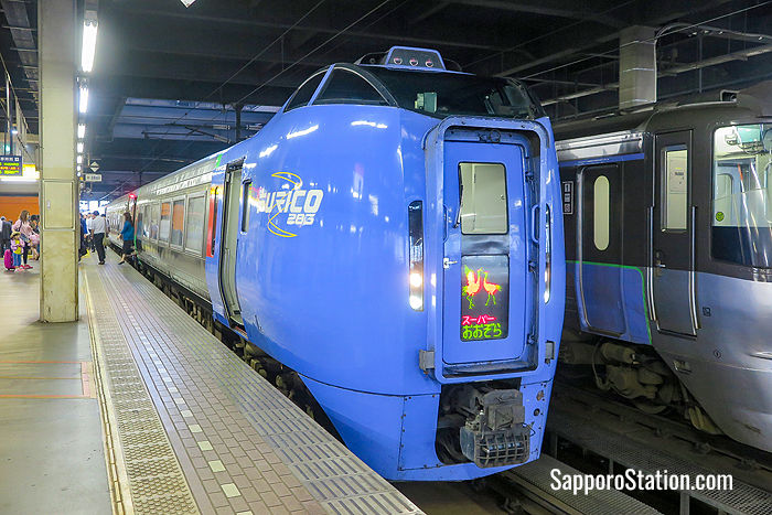 The Limited Express Ozora at Sapporo Station