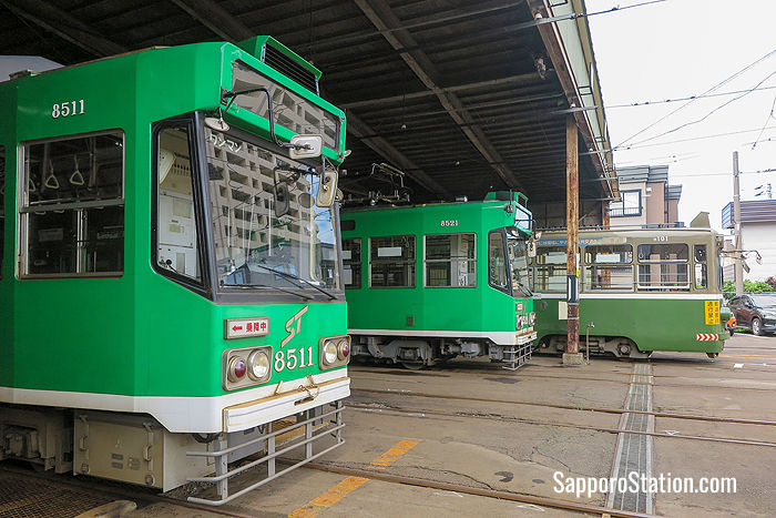 Trams at Sapporo Train Bureau