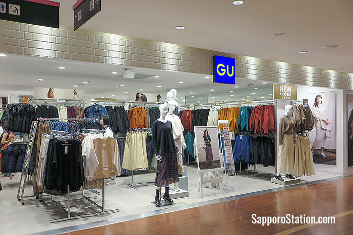 8th floor: GU stocks inexpensive casual fashions for young people in their teen and twenties