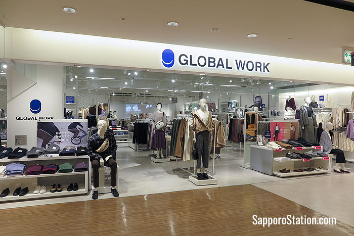 7th floor: Global Work sells everyday clothing aimed at young families with items for men, women, and children