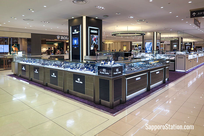 Grand Seiko boutique on the 5th floor sells the world-famous Seiko brand of watches