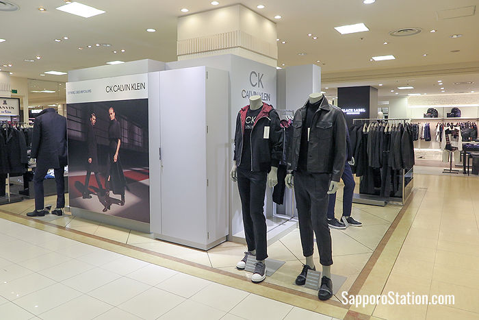 High-end brand Calvin Klein for men can be found on the 6th floor