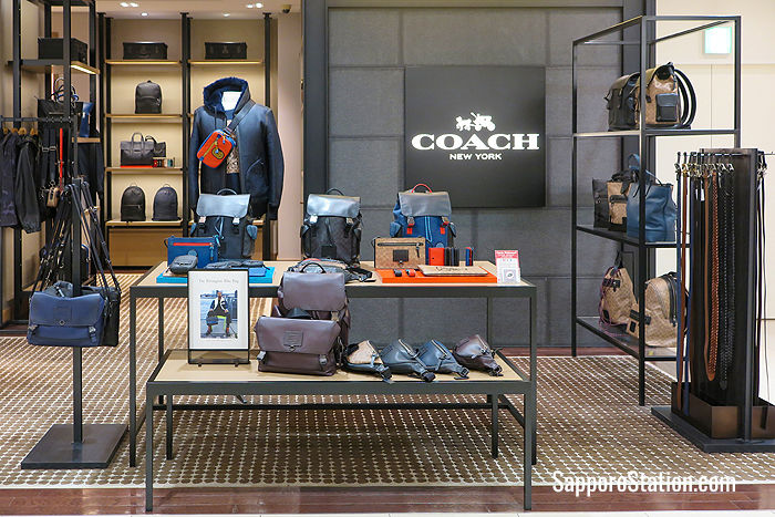 Coach on the 3rd floor stocks bags, jackets, belts and other leather accessories for ladies and men