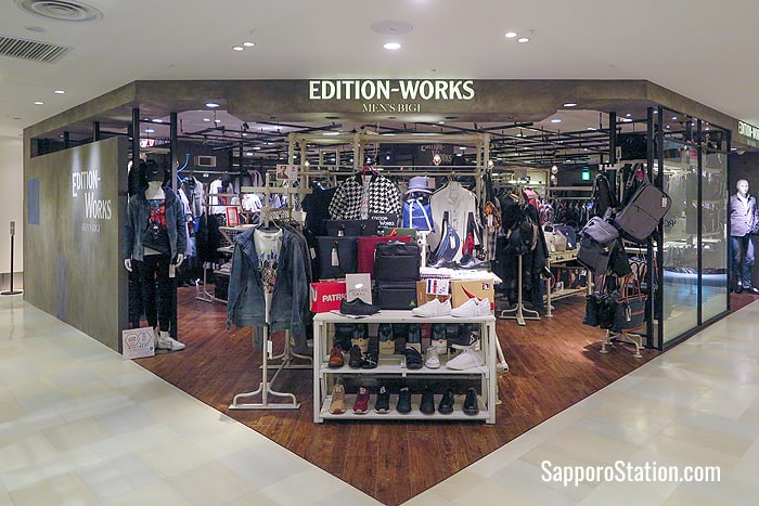 Edition-Works Men's Bigi on the 5th floor sells casual fashions aimed at men in their 30s and 40s