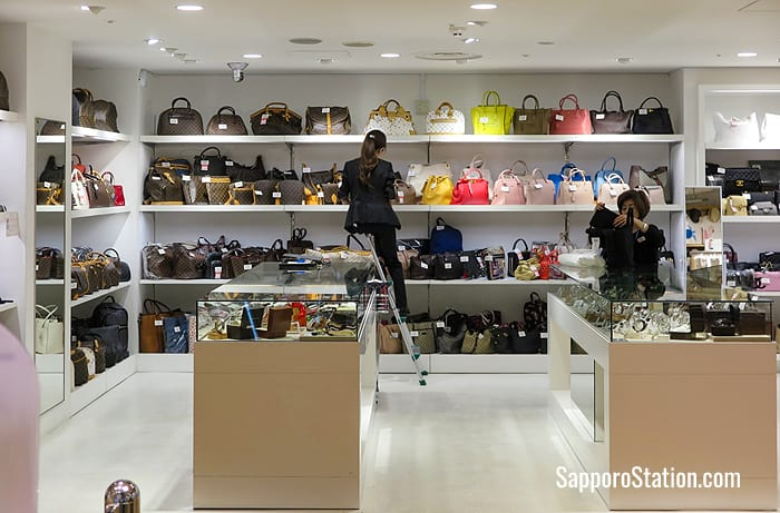 Luxury brand bags on sale in the 7th floor event space