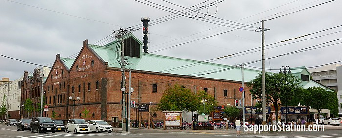 Some of the original red-brick brewery buildings at Sapporo Factory