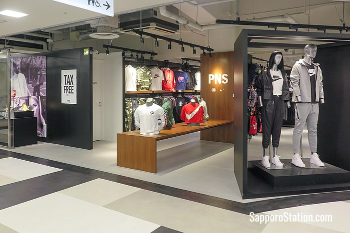 PNS sportswear store on the 2nd floor