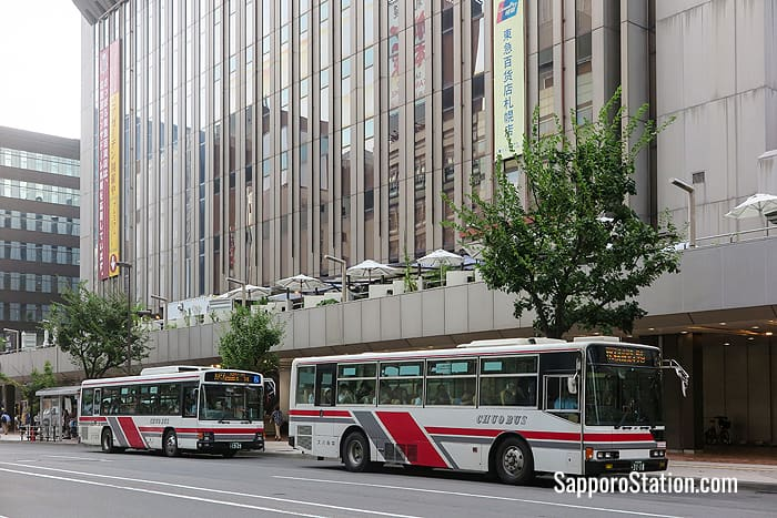 Bus stops on the south side of Tokyu Department Store