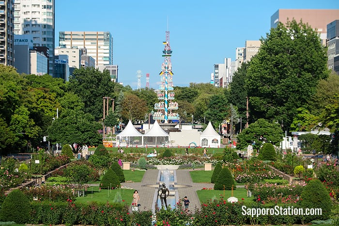 The view over Odori Park