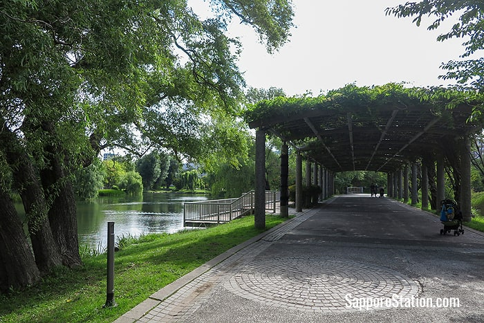 Nakajima Park is a pleasant location for a stroll or a picnic