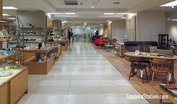 Furniture and interior goods on the 7th floor