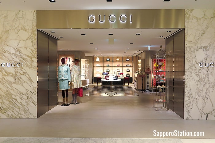 The Gucci boutique store on the 1st floor