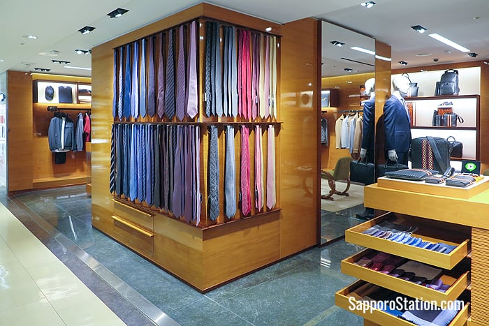 Men's ties and other formal wear can be found on the 3rd floor