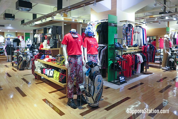 Sportswear and golfing gear on the 4th floor