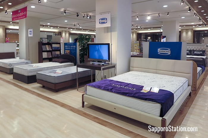 Simmons is a popular brand of bedding on the 6th floor