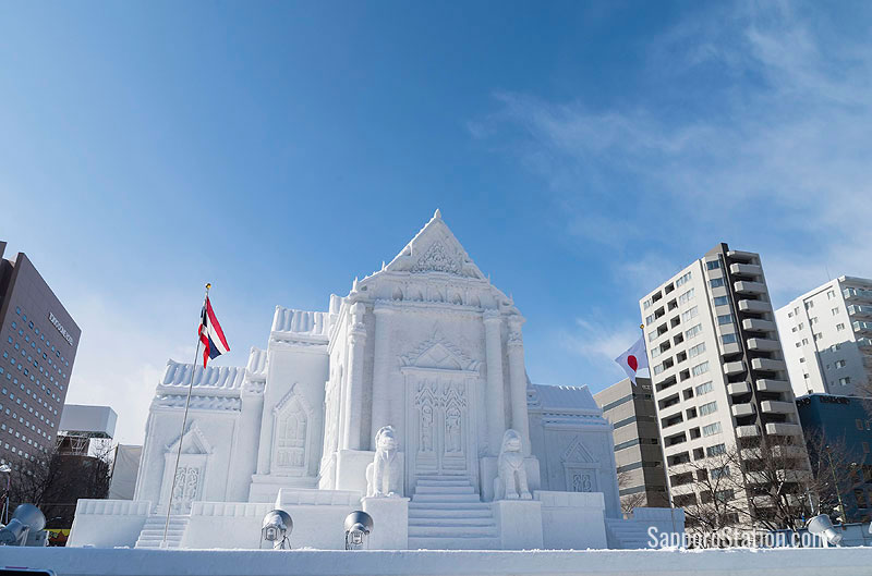 Odori Park is the main location of the Sapporo Snow Festival