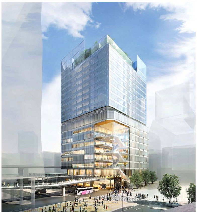 A new building in the Dogenzaka area near the Shibuya Mark City complex will have commercial and office space