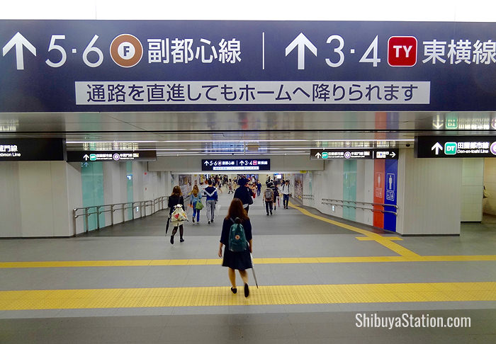 This underground passageway leads to the Fukutoshin subway line and the Tokyu Toyoko Line railway